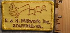 B & H MILLWORK STAFFORD VIRGINIA PATCH (MILLWORK, CONSTRUCTION)