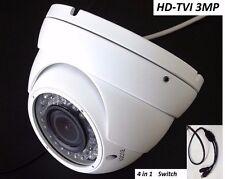 HD-TVI 3MP Dome Camera 3 MegaPixel CMOS Varifocal 2.8-12mm, 36 IR WDR HDTVI 4in1