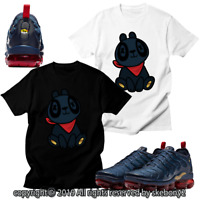 CUSTOM T SHIRT matching NIKE AIR VAPORMAX PLUS Midnight Navy AVP 1-15-9