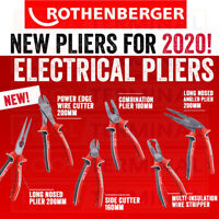 Rothenberger Electrical Pliers Long Nosed Side Combination Wire Cutters Stripper