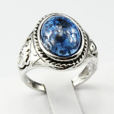 Amber Gemstone Fashion New  Jewelry 925 Silver Men Women Ring Size 10