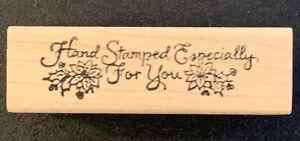 Rubber Stamp Hand Stamped Especially For You Poinsettia