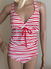 MAMALICIOUS MATERNITY striped swimsuit size M in RED & WHITE