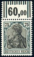 DR 1919, MiNr. 104 c W OR, sauber postfrisch, gepr. Infla, Mi. 150,-
