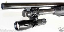 1000 Lumen Strobe Flashlight with Mount Fits Mossberg 500 590 88 Shotgun 12 ga.