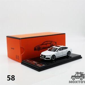 GCD 1:64 Audi RS7 Sportback white RHD Diecast Model Car