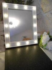 Wandspiegel, 32x27 cm, weiß, mit LED-Beleuchtung, Spiegel, Accessoire,Dekoration