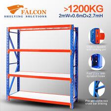 Long Span Storage Warehouse Shelving Racking Racks Shelf Shelves, 2Wx0.6X2.7mH S