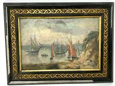 Rade de Lorient & Peinture de la Fin du XIX ème Siècle & Morbihan & C.PUZIN 1896