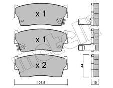 Bremsbeläge VA, SUZUKI VITARA Cabrio,X-90