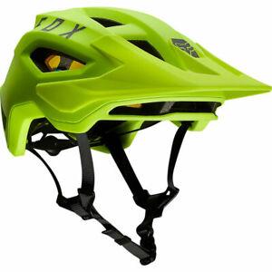 New Fox Racing Speedframe Mountain Bike Helmet Fluorescent Yellow Medium
