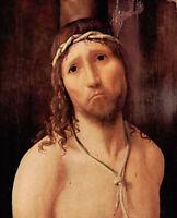 Oil painting Antonello da Messina - Male portrait Christ - Ecce Homo on canvas