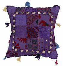"""17"""" Cotton Cushion Cover Indian Patchwork Bohemian Decor Sari Throw Pillow"""
