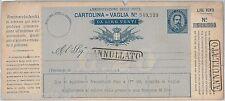 55374 - ITALIA REGNO -  CARTOLINA VAGLIA Postale: 20 Lire ANNULLATO