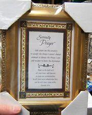 "7"" x 9"" Tabletop or Wall Framed Art Print  SERENITY Prayer w/ Proverbs 3:5-6"