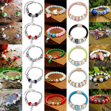 Charm Mulit-Color DIY Alloy Beads Hole Cuff Pendant Bracelet Bangle Jewelry Gift