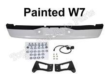 Painted Bright White Rear Step Bumper Full Assy Pad Bracket Fit 2005-2011 Dakota