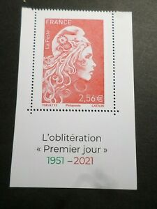 FRANCE 2021 timbre GRAND FORMAT MARIANNE ENGAGEE 70 ANS 1° JOUR neuf**, MNH