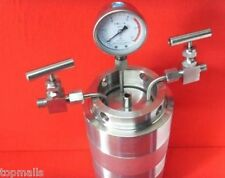 Hydrothermal synthesis Autoclave Reactor Kettle & inlet outlet gauge 100ml 6Mpa