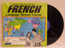 VINTAGE LP ALBUM CONVERSA-PHONE LANGUAGE RECORD FRENCH