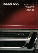 Saab 900 1988-89 UK Market Sales Brochure Convertible Turbo 16S 16 8v i16 i