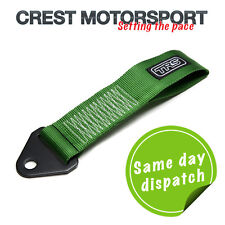 TRS Fixed Tow Eye Strap/Loop GREEN (MSA Compliant) Race/Rally/Competition Car