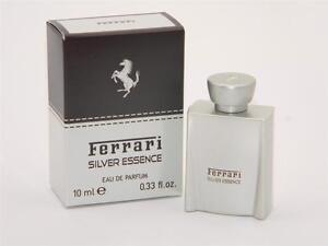 Ferrari SILVER ESSENCE Eau de Parfum Travel Size SPLASH 10ml 0.33 fl oz