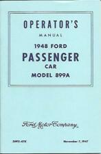 1948 FORD CAR MODEL 899A OWNER'S MANUAL-V-8 -100 H.P.
