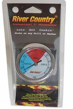 "3"" RCT3 BBQ CHARCOAL GAS ELECTRIC GRILL SMOKER PIT THERMOMETER ADJUSTABLE"