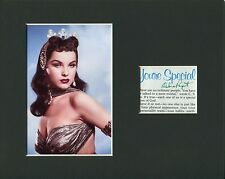 Debra Paget Ten Commandments Love Me Tender Signed Autograph Photo Display