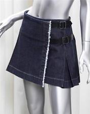BURBERRY LONDON Blue Cotton Denim Jean Kilt Pleated Above Knee Short Skirt 6/4