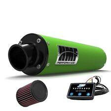 HMF Performance Slip On Exhaust Green Black End Cap EFI Optimizer K&N LTZ 400