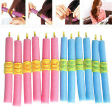 Women Pink/Blue Sponge DIY Foam Hair Curler Hair Curling Styling Tools Salon