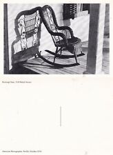 ROCKING CHAIR FROM A PHOTOGRAPH BY RALPH STEINER UNUSED POSTCARD