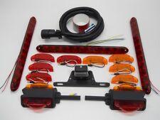 """LED Over 80"""" Trailer Marker Brake Turn Tail Light Kit / Wiring / License Light"""