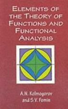 Elements of the Theory of Functions and Functional Analysis (Dover Books on Mat