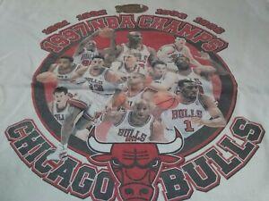 VTG 90s Chicago Bulls 1997 NBA Champions Champs T Shirt X-Large Michael Jordan