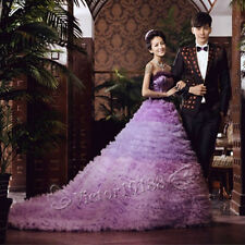 2014 Purple Prom Party Quinceanera Pageant Cocktail Ball Gown Wedding Dresses