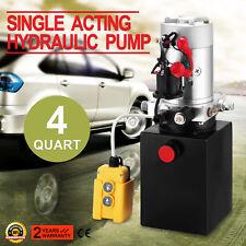 12 Volts 12V 4L Pompe Hydraulique Groupe Remorque Réservoir Panneau De Commande