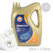 Car Engine Oil Service Kit / Pack 5 LITRES Gulf Formula FS 5w-30 5L