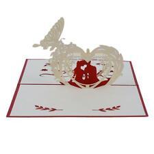 Anniversary Postcard Invitation Card Paper Wedding 3D UP Greeting Card Gift HD