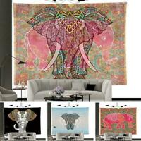Elephant Pattern Tapestry Wall Hanging Tapestry DIY Wall Decor Home Room T1G5