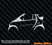 2x silhouette stickers auto aufkleber for Smart Fortwo cabrio / convertible W450