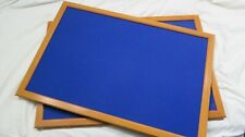 Notice Boards - 600mm x 900mm - wood frame - Blue