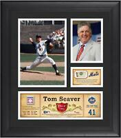 """Tom Seaver New York Mets Framed 15"""" x 17"""" HOF Collage with Piece of GU Ball"""