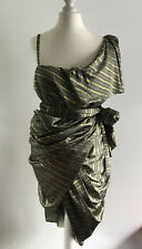 RELIGION LAYERED GRECIAN IN LOVE ONE SHOULDER DRAPE DRESS - Size UK-XS