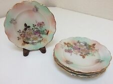 Bavaria Schumann Arzberg Germany Wild Rose Blush Set/4 Bread and Butter Plates
