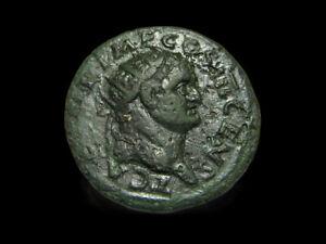 Roman ancient coin TITUS Æ Dupondius, Struck 74 AD, FELICITAS, Rare