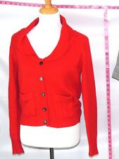 Zara Red Women Long Sleeve Cardigan Angora Sweater Sz M #1675 Batch 170