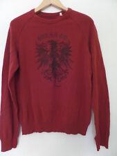 GUESS Men's Shirts Size-M Burgundy Crewneck 100% Cotton Very Good!